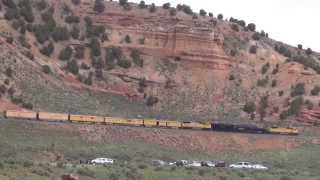 Union Pacific Big Boy #4014 climbs Echo Canyon @ Castle Rock, UT 5/6/2014