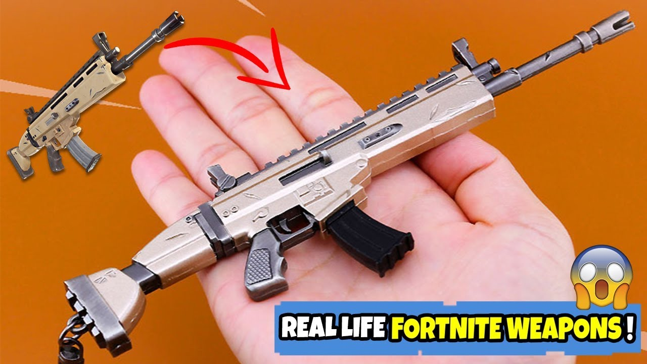 Rare Real Life Fortnite Guns Fortnite Scar Key Chain Youtube