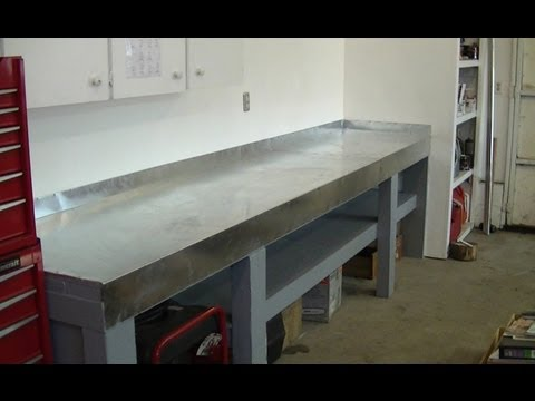 New Metal Top Work Bench For Small Engine Repair Youtube