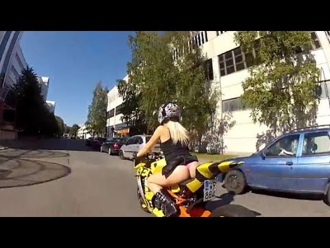 You Like Biker Chicks? Check This Out ( Biker Chick Takes Us For A Ride )