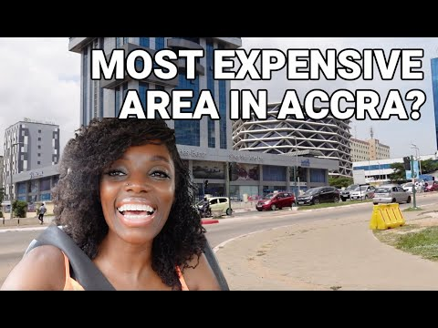 I WENT FOR A DRIVE AROUND THE MOST EXPENSIVE AREA IN ACCRA TO TAKE A BREAK FROM MY BUILDING PROJECT