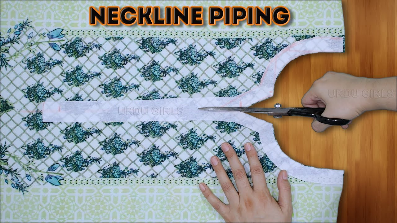 Easy Neckline Piping || Cutting And Stitching || Piping On Neck Design