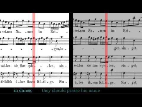 BWV 225 - Singet dem Herren ein neues Lied (Scrolling)