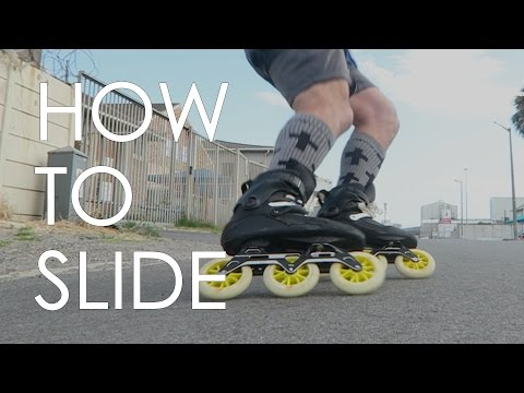 INLINE SKATING TUTORIAL - HOW TO SLIDE ON INLINE SKATES  // VLOG10
