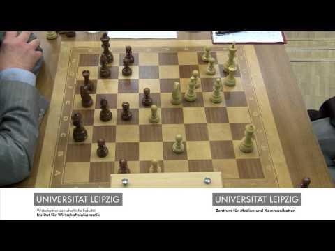 Schach-Event Uni Leipzig: Viktor Kortschnoi vs. Wolfgang Uhlmann, Tag 1