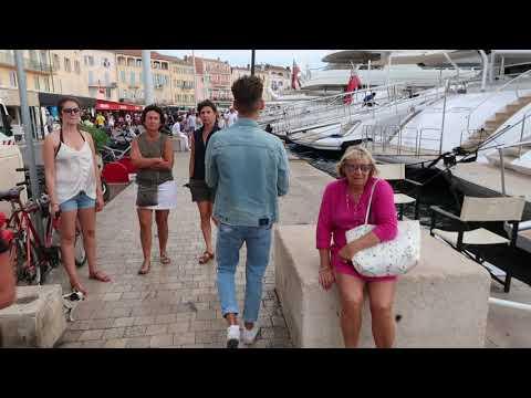 Yacht walk a fame in St.Tropez 2018