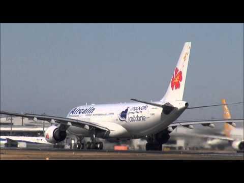 Air Calin Narita Airport Takeoff!