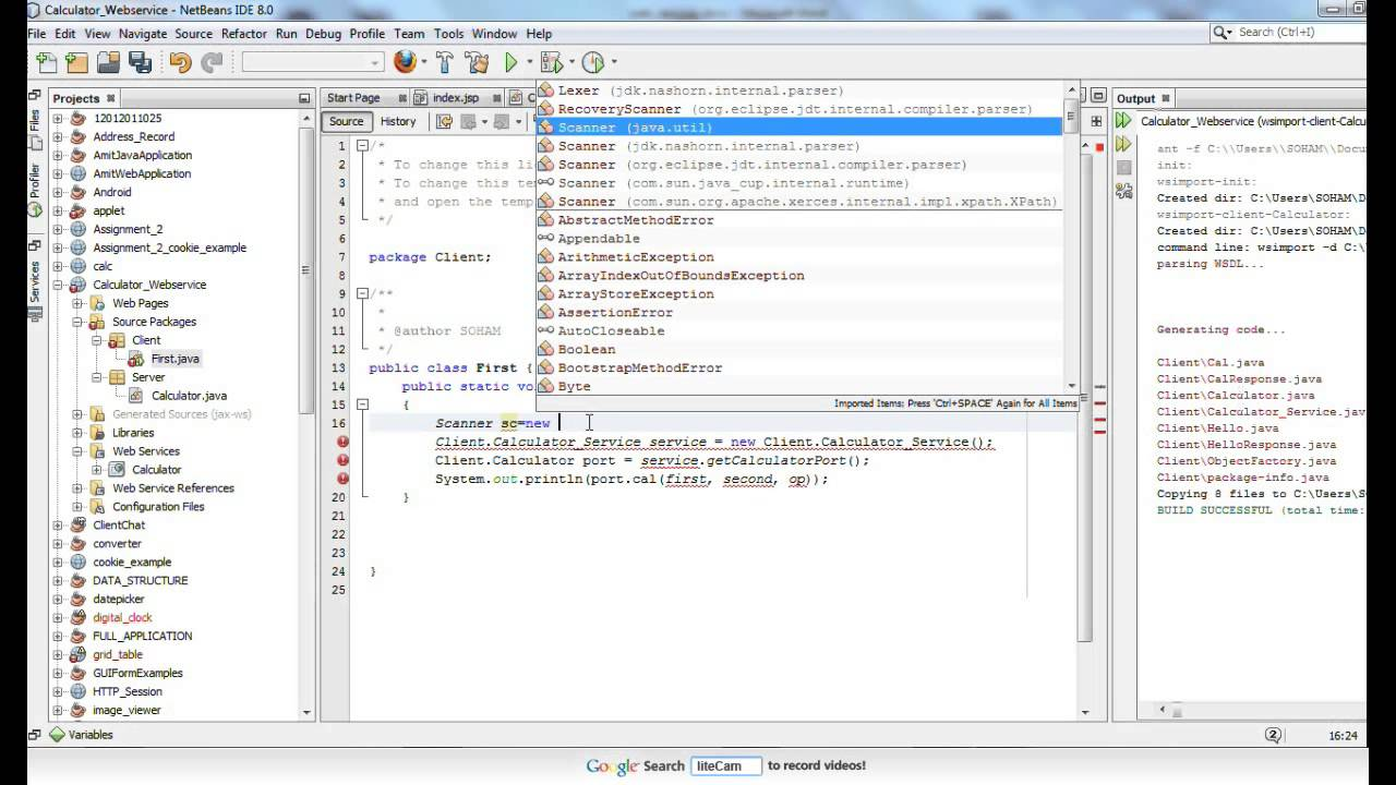 How to create Calculator Services using WebServices in Netbeans