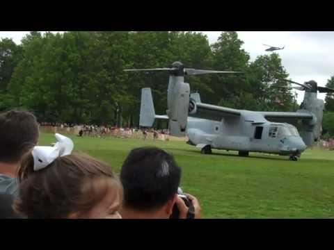 MV-22 Osprey Landing In Eisenhower Park, LI