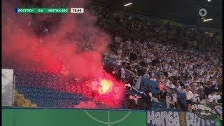 Hansa Rostock - Hertha BSC DFB PokalPyroAusschreitungen