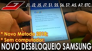 NOVO MÉTODO Desbloqueio Conta Google Samsung (Prime, Metal, Neo...) SEM PC - 2018 | Guajenet