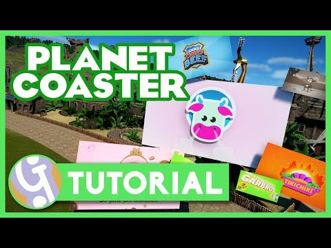 How To Use Billboards | Planet Coaster Tutorial
