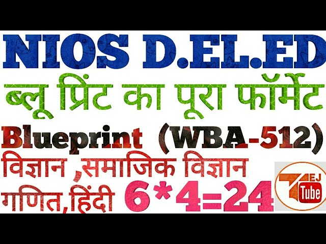 Preparation of Balanced Question Paper Based on Design and Blueprints #1