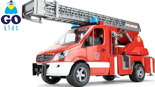 London Bridge Is Falling Down - Toy Fire Truck | Toy Fire Engine - Nursery Rhyme Trucks - GoKids