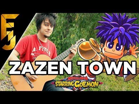 Mystical Ninja Starring Goemon - Zazen Town Guitar Cover   FamilyJules