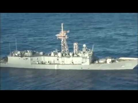 US Navy Ship Hit By Missiles and Torpedoes RIMPAC 2016.