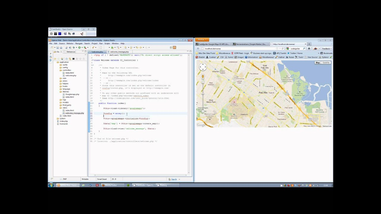 codeigniter google maps api library  getting started. codeigniter google maps api library  getting started  youtube