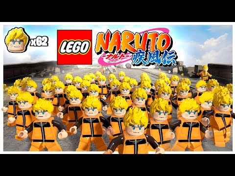 Naruto Shippuden in LEGO Game  | 62 Shadow Clones CHALLENGE :D |
