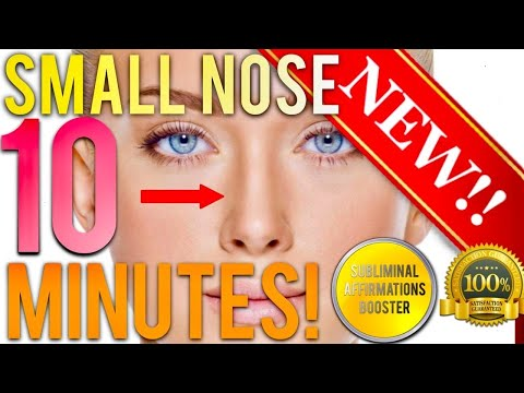 🎧GET A SMALLER NOSE IN 10 MINUTES! SUBLIMINAL AFFIRMATIONS BOOSTER! REAL RESULTS DAILY!