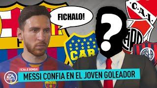 MESSI pide FICHAR a la JOVEN PROMESA GOLEADORA | MODO CARRERA