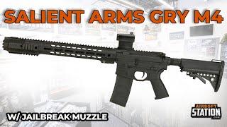 Salient Arms Int'l GRY M4 Airsoft Rifle w/ Jailbreak Muzzle