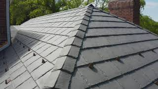 DaVinci Bellaforte Slate - Lake Forest, installed by CRC Cedar Roofing Company
