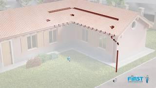 Canali di gronda ed accessori in PVC - installazione