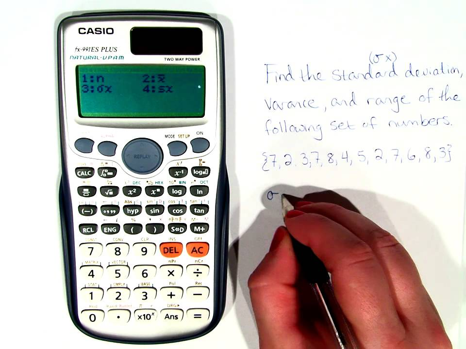 how to find standard error on calculator