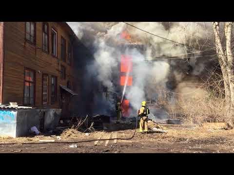 Очередной пожар в Архангельске Карельская 47