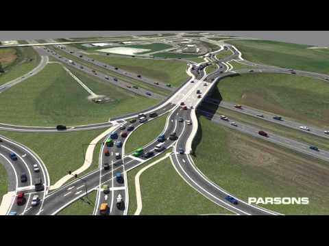 Campus Parkway Double-Crossover Diamond Interchange Exit 210