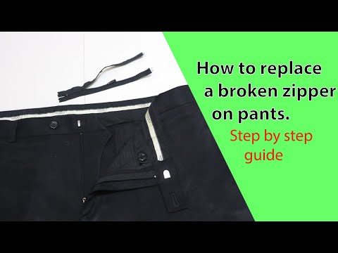 How to replace a zipper on pants (Part 3)