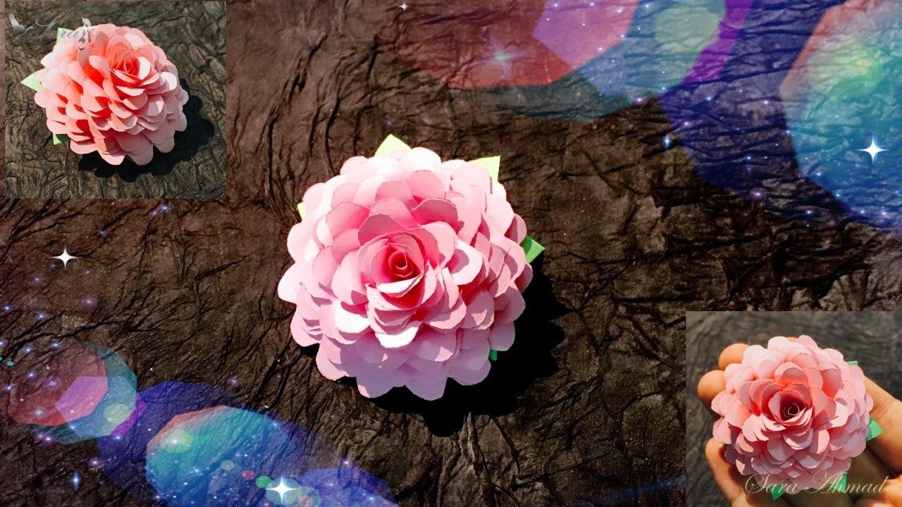 Come Fare Il Fiore Di Rosa Di Carta Youtube