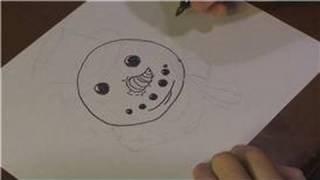 Drawing Lessons : How to Draw a Snowman