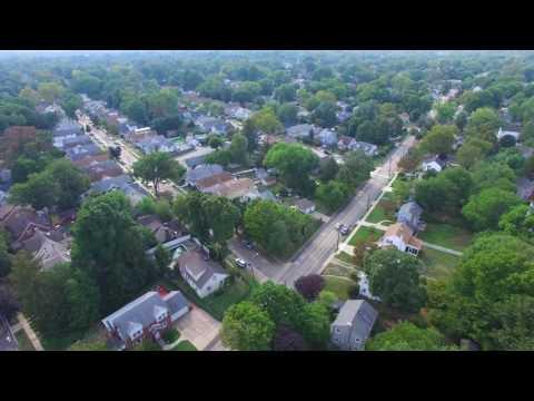 Aerial Flight Entire Town of Audubon NJ 200 Feet