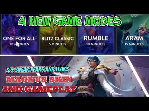 MAGNUS GAMEPLAY AND SKIN + 4 NEW GAME MODES DETAILS- VAINGLORY 5V5 UPDATE 3.9 LEAKS