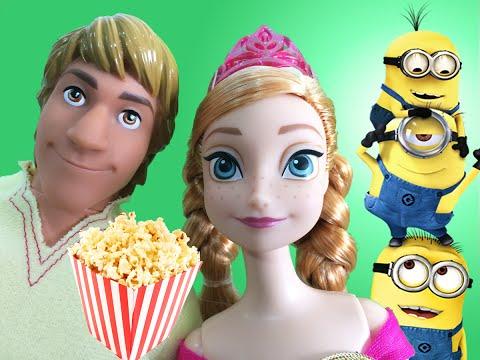 Novela da Frozen - Anna e Elsa vão ao cinema ver Filme Minions em Português