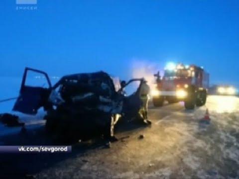 На трассе Дудинка-Алыкель-Норильск школьный микроавтобус столкнулся с грузовиком: есть погибшие