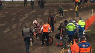 Jeffrey Herlings Big Crash at Wolfsbosch