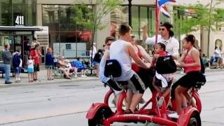 Milwaukee Seven Seat Bike Tours(Food tour of the Historic Third Ward and Ghastly History of the East side tour., 2016-06-22T20:32:33.000Z)