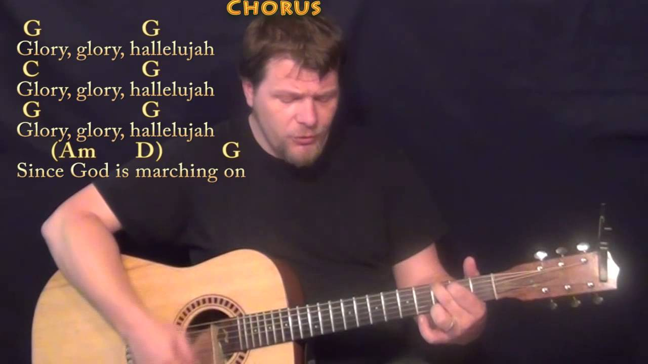 The Battle Hymn Of The Republic Hymn Strum Guitar Cover Lesson In