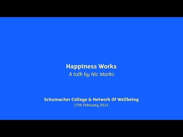 Nic Marks, Happiness Works