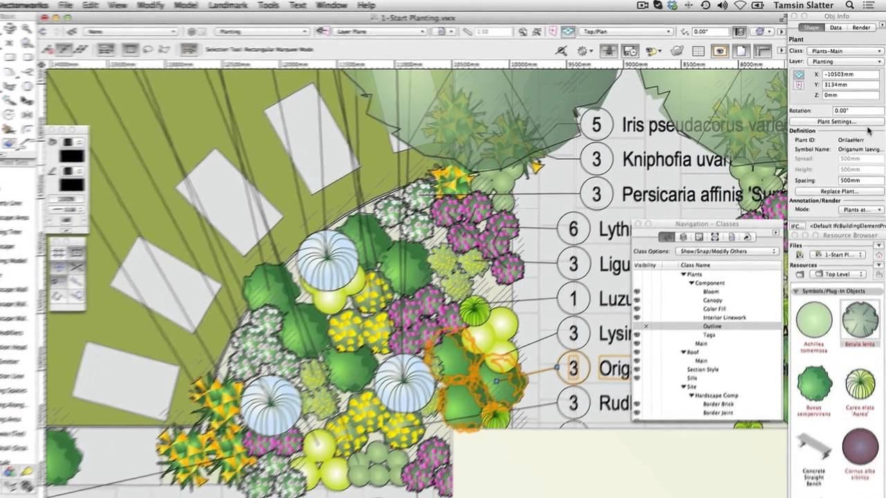 gsg vectorworks landmark 2015 18 explore the planting