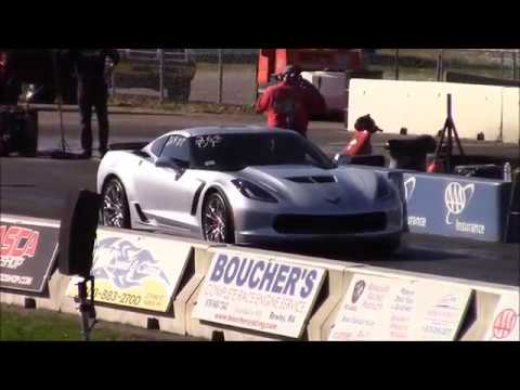 2017 C7 Z06 14 Mile Drag Racing Best Pass 109 At 128 Mph On