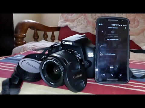 How to connect canon EOS 1300D to smart phone using Wi-Fi|NFC and  backup photo