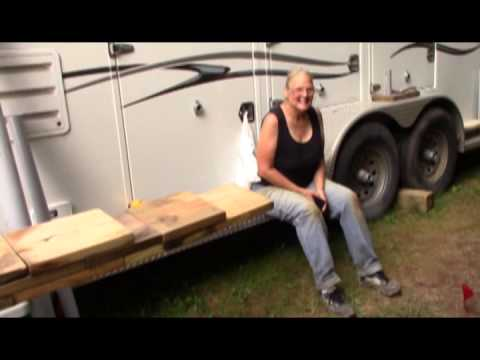 Building an RV Trailer Leveling Ramp