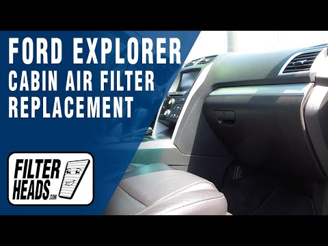 How to Replace Cabin Air Filter 2013 Ford Explorer
