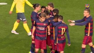 [HIGHLIGHTS] FUTBOL (2a B): FC Barcelona B-Olot (2-0)