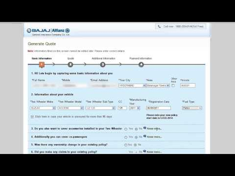 Vehicle Insurance Online Simple and Easy steps