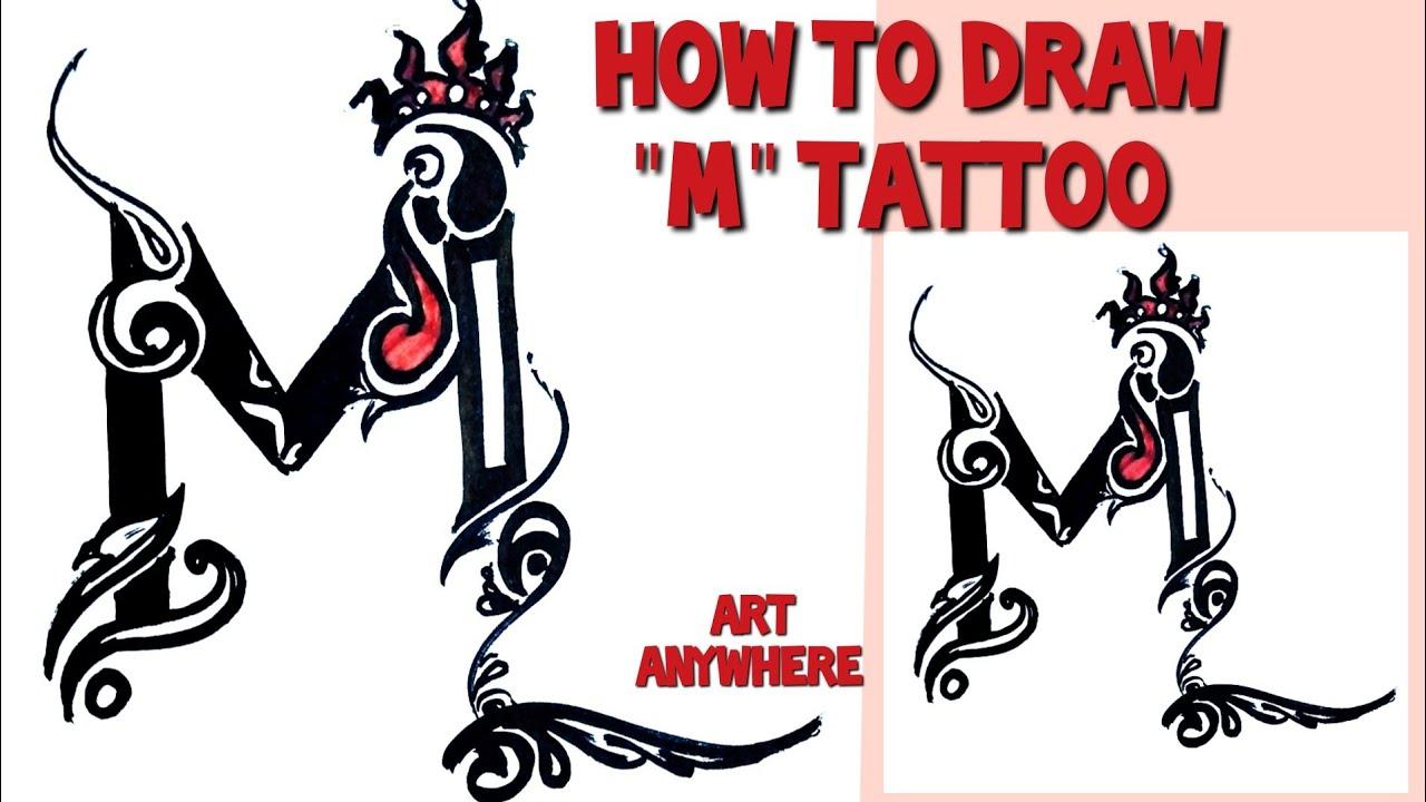Draw M Crown Tattoo Step By Step Tutorial Of Tattoo Design Beautiful M Tattoo Youtube Feminine crown tattoo symbol is very popular with additions of princes. draw m crown tattoo step by step tutorial of tattoo design beautiful m tattoo