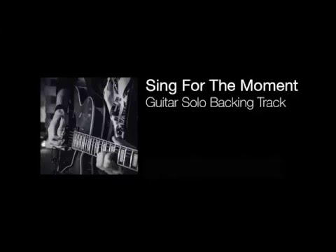 Sing For The Moment (Eminem) - Guitar Solo Backing Track (Drum & Bass)